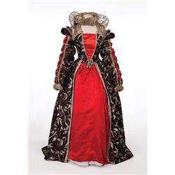Florence Eldridge black, red and silver period gown by Walter Plunkett form Mary of Scotland