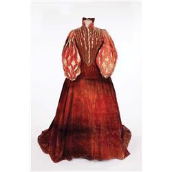 """Florence Eldridge """"Elizabeth Tudor"""" red period dress by Walter Plunkett form Mary of Scotland"""