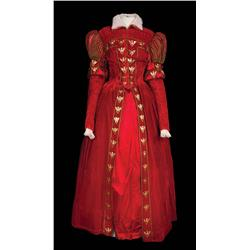 Katharine Hepburn red period gown designed by Walter Plunkett from Mary of Scotland