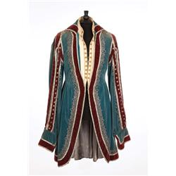 "Henry Stephenson ""Count Anastas Walewski"" elaborate blue and maroon period coat from Conquest"