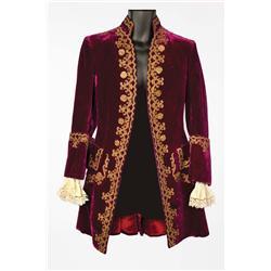 """Joseph Schildkraut """"Duke d'Orleans"""" wine velvet period coat from Marie Antoinette"""