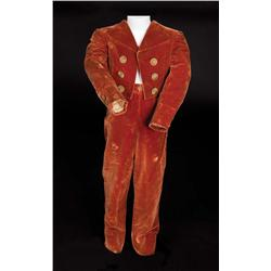 "Scotty Beckett ""the Dauphin"" pumpkin silk velvet period jacket and pants from Marie Antoinette"