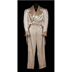 "Al Jolson ""Edwin P. Christie"" ivory tailcoat and pants from Swanee River"