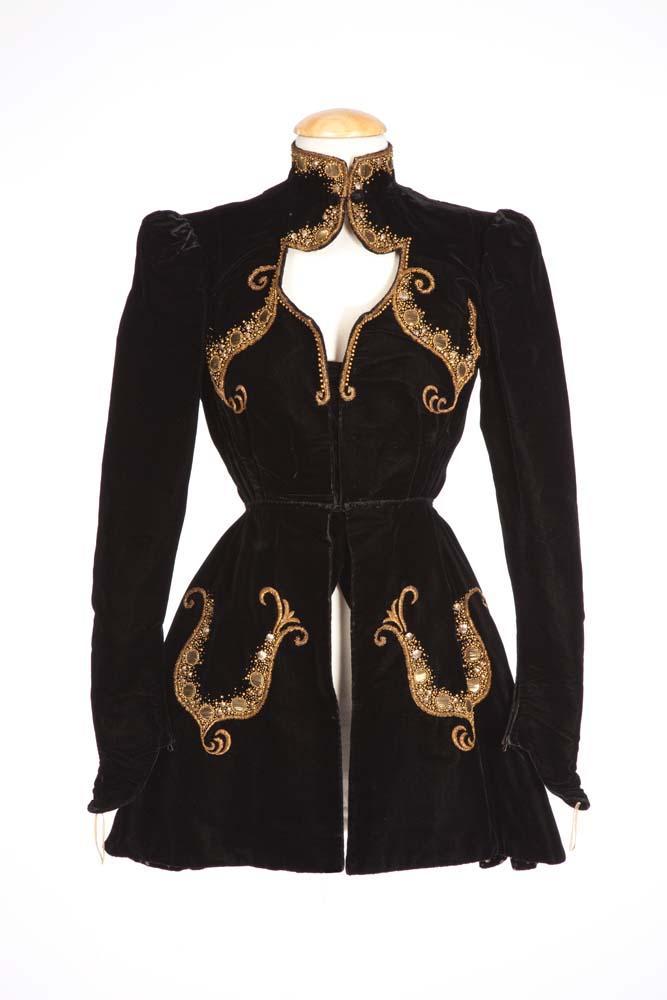 """36c65e348735f Image 1 : Eleanor Powell """"Clare Bennett"""" black velvet jacket designed by  Adrian in ..."""