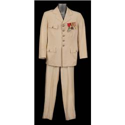 "Claude Rains ""Captain Louis Renault"" ivory military suit from Casablanca"