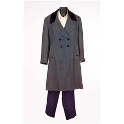 "Orson Welles ""Edward Rochester"" Gray blue wool top coat, pants and shirt from Jane Eyre"