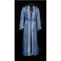 "Ingrid Bergman ""Paula Alquist"" blue satin dressing gown from Gaslight"