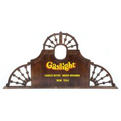 Promotional plaque for Gaslight