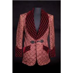 "Charles Boyer ""Gregory Anton"" burgundy smoking jacket from Gaslight"