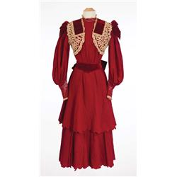 "Judy Garland ""Esther Smith"" red wool period dress from Meet Me in St. Louis"