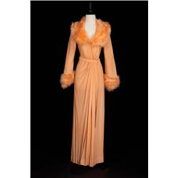 "Vivian Blaine ""Mary Elizabeth 'Doll Face' Carroll"" peach robe from Doll Face"