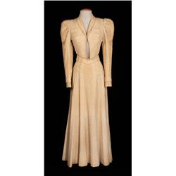 "Judy Garland ""Susan Bradley"" cream two-piece period dress (not screen used) from The Harvey Girls"
