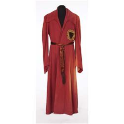 "Vincent Price ""Nicholas Van Ryn"" rust-color long robe and belt from Dragonwyck"