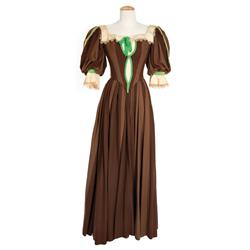 "Linda Darnell ""Amber St. Clair"" two tone brown period dress from Forever Amber"