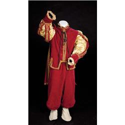 "Jerry Austin ""Don Sebastian"" red two-piece outfit from Adventures of Don Juan"