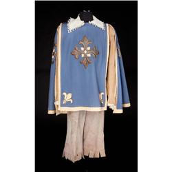 "Van Heflin ""Athos"" blue wool cape, shirts, and suede boots from The Three Musketeers"