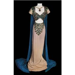 "Hedy Lamarr ""Delilah"" peacock-feather eye two-piece gown from Samson and Delilah"