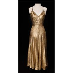 "Ginger Rogers ""Dinah Barkley"" gold lamé dress from Barkleys of Broadway"