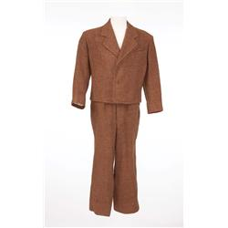 "Dean Stockwell ""Jed Joy"" brown wool period suit from Down to the Sea in Ships"