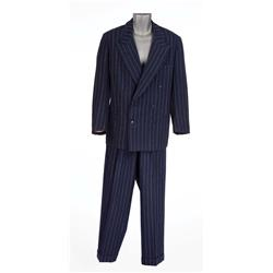 "William Powell ""Emery Slade"" navy pinstriped suit from Dancing in the Dark"