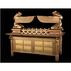 "David and Bathsheba full-scale intricately detailed gilt-lacquered ""Ark of the Covenant"""