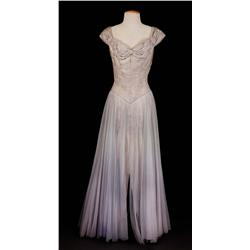 """Dorothy Kirsten """"Louise Heggar"""" grey gown from The Great Caruso"""