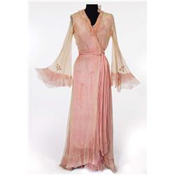 """Vivien Leigh """"Blanche DuBois"""" ivory and pink chiffon robe from A Streetcar Named Desire"""