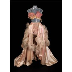"""Pat Dean Smith """"Showgirl"""" pink satin and ostrich-feather dance gown from An American in Paris"""