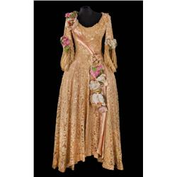 Jean Hagen gold lace over pink satin period gown by Walter Plunkett from Singin' in the Rain
