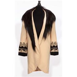 "Jean Hagen ""Lina Lamont"" camel coat with monkey-fur collar from Singin' in the Rain"