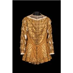 """Charles Laughton """"King Henry VIII"""" gold satin outfit from Young Bess"""