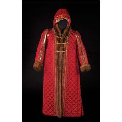 """Rex Thompson """"Prince Edward/King Edward VI"""" Burgundy quilted robe from Young Bess"""