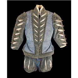 """Rex Thompson """"King Edward VI"""" teal velvet royal court complete outfit from Young Bess"""
