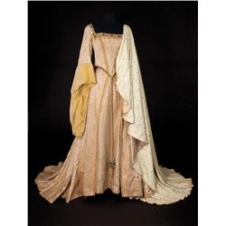 """Jean Simmons """"Queen Elizabeth I"""" beige silk period gown with hat and cape from Young Bess"""