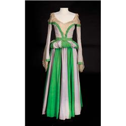 """Ann Miller """"Bianca"""" Shakespearean period green and gray dress from Kiss Me Kate"""