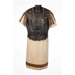 """John Gielgud """"Cassius"""" leather cuirass armor and gold-embroidered tunic from Julius Caesar"""