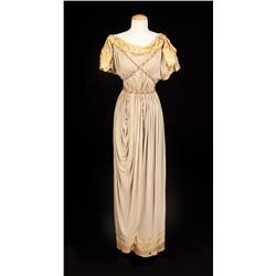 "Deborah Kerr ""Portia"" gold-trimmed toga from Julius Caesar"