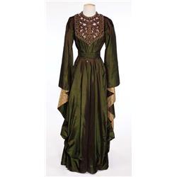 "Judith Anderson ""Queen Herodias"" dark green beaded dress from Salome"