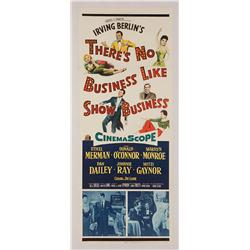 """There's No Business Like Show Business original 14"""" x 36"""" insert poster for Marilyn Monroe film"""