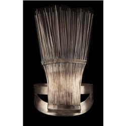 "Elaborate ""broom"" shaped metal headdress from The Egyptian"