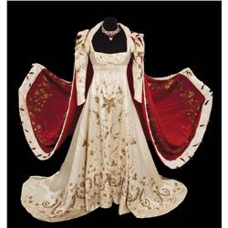 """Merle Oberon """"Empress Josephine"""" Coronation gown with velvet and ermine robe from Desirée"""