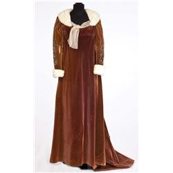 """Jean Simmons """"Desirée Clary"""" brown velvet gown with ermine trim and matching hat from Desirée"""