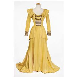 """Elizabeth Taylor """"Lady Patricia"""" yellow satin period gown from Beau Brummell"""