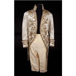 """Peter Ustinov """"Prince of Wales"""" ivory brocade coat and satin pantaloons from Beau Brummell"""