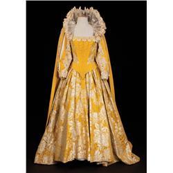 """Bette Davis """"Queen Elizabeth I"""" elaborate golden yellow brocade royal gown from The Virgin Queen"""