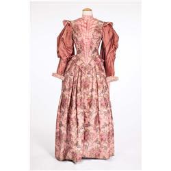"Joan Collins ""Beth Throgmorton"" rose brocade period gown from The Virgin Queen"