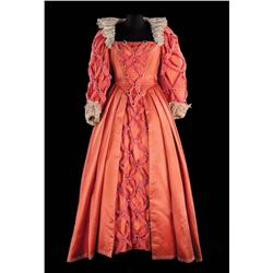 """Bette Davis """"Queen Elizabeth I"""" elaborate rose-colored silk royal gown from The Virgin Queen"""