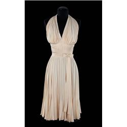 "Marilyn Monroe ivory pleated ""Subway"" dress, from The Seven Year Itch"
