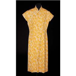 Jennifer Jones yellow cotton oriental dress from Love is a Many Splendored Thing