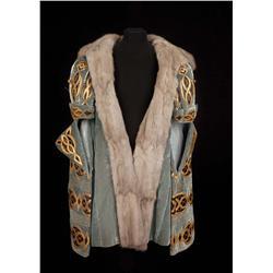 """Pedro Armendariz """"King Francis I"""" royal rabbit-trimmed velvet coat from Diane"""